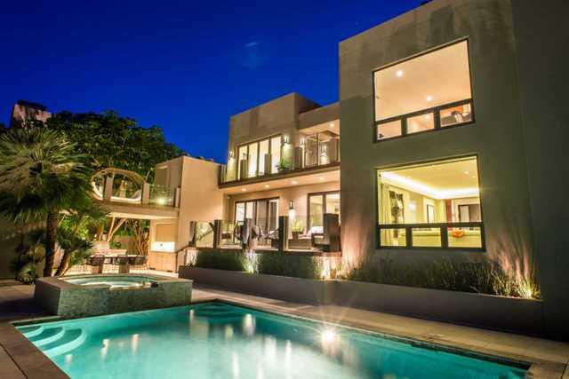La Playa home has huge patio, movie theater