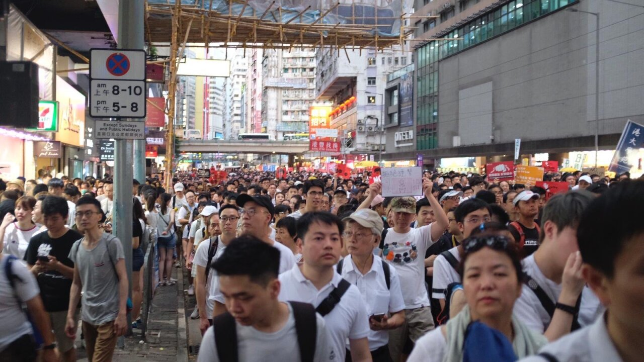 1 3 million protest in Hong Kong, organizers say, over