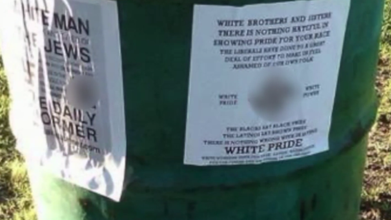 Offensive signs found at Virginia Beach park