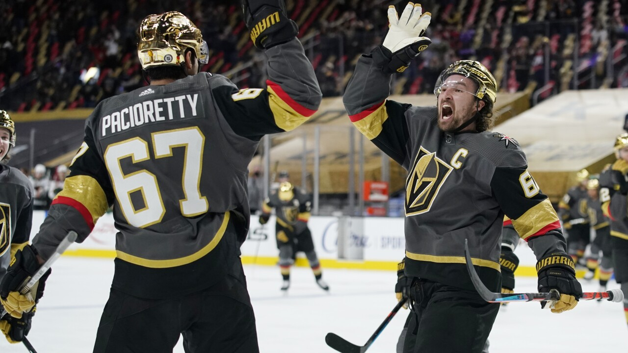 Vegas Golden Knights welcome fans back to Fortress; beat Wild in OT 5-4