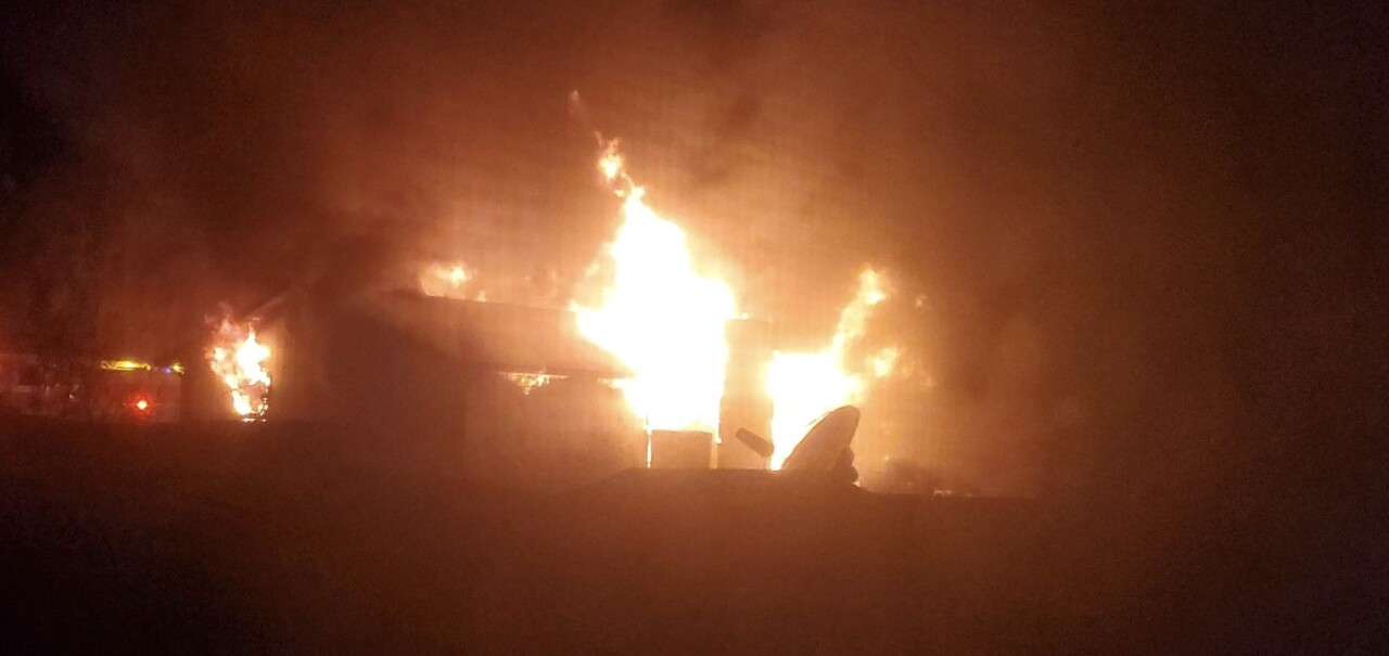 Flames engulf Larimer County home