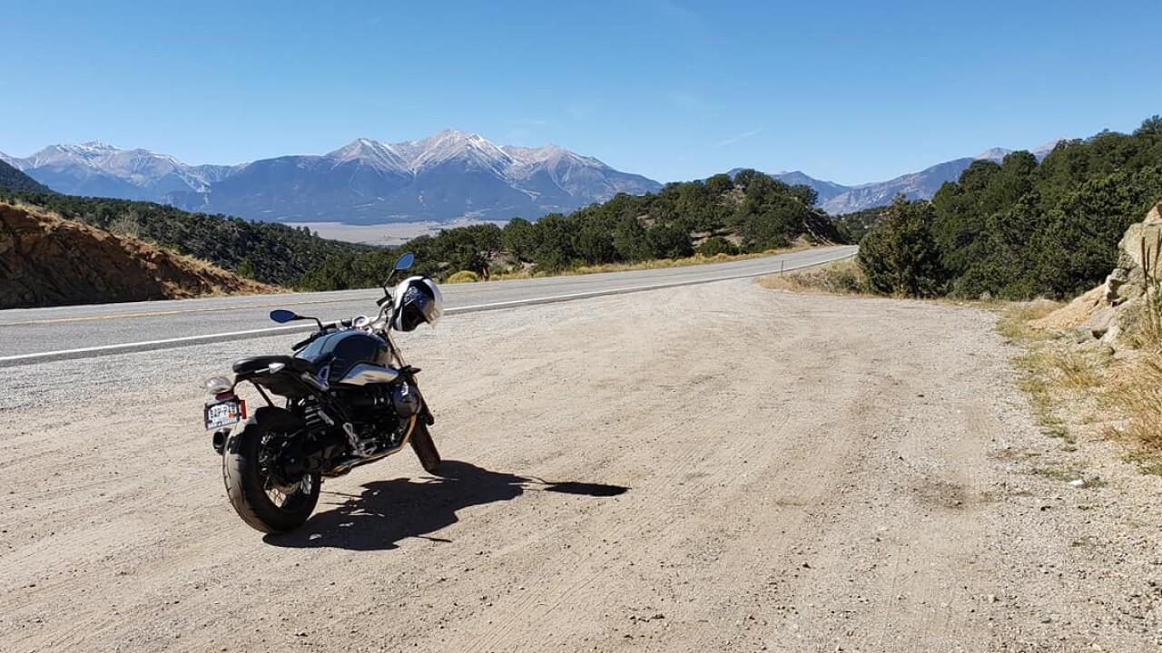 Motorcycle on Highway 24