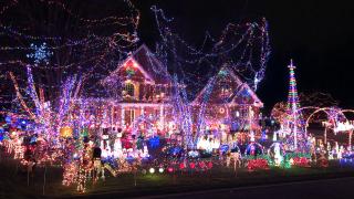 Sturm family Christmas display in Massillon