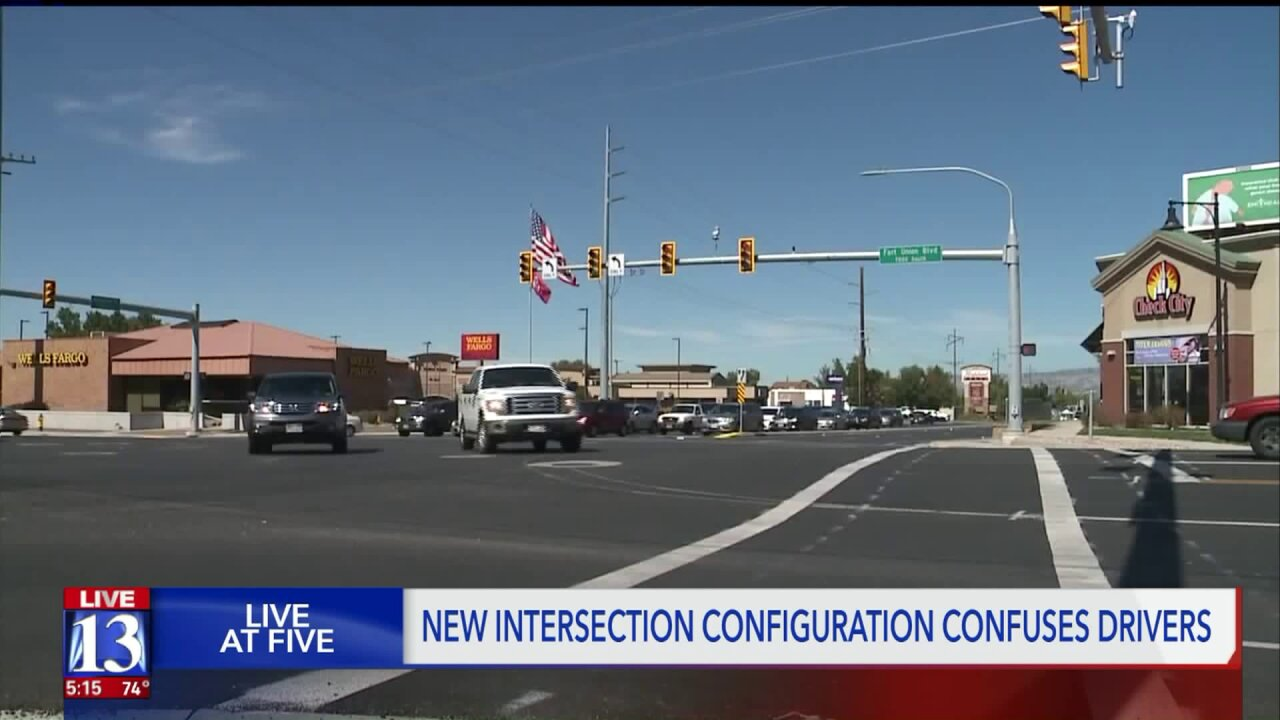 Cottonwood Heights drivers frustrated by changes to busy intersection
