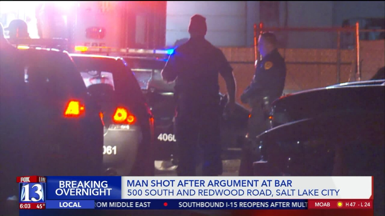 Police: man shot in leg after altercation outside of bar in Salt LakeCity