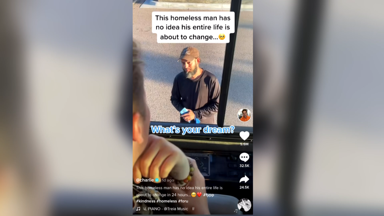 Local man goes from homeless to food truck owner after viral Tik Tok video