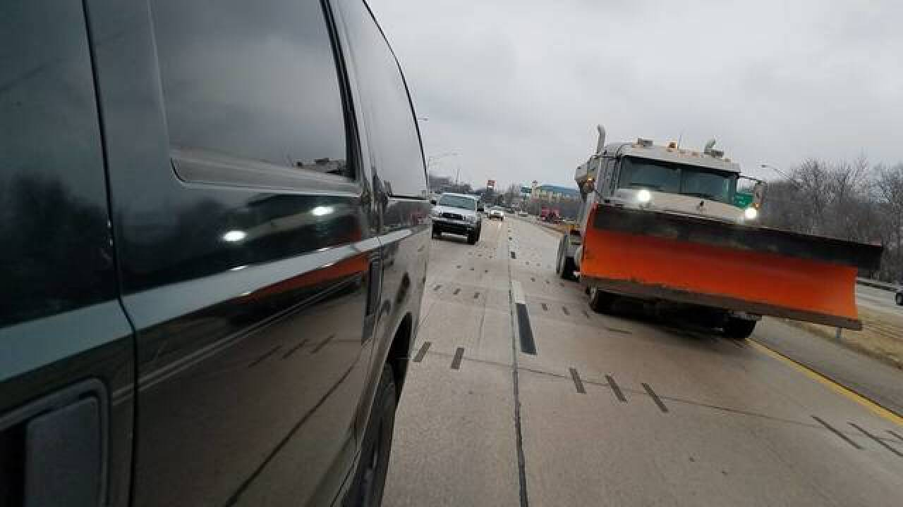 Roadways slick in spots in Tulsa area