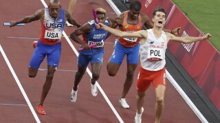 Poland wins first 4x400m mixed relay gold of Olympics
