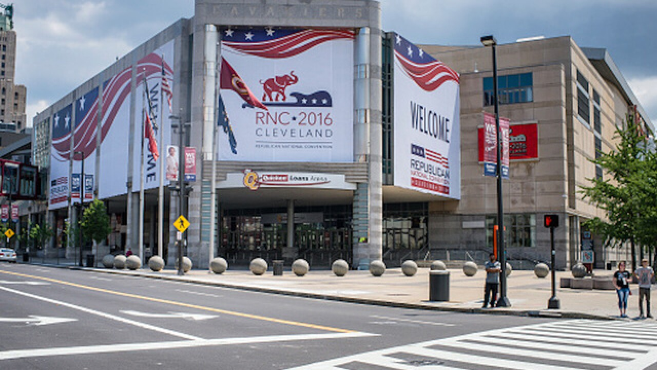 'White elevators' sign at Republican Convention lead to internet ridicule
