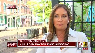 Tanya O'Rouke covering the mass shooting in Dayton