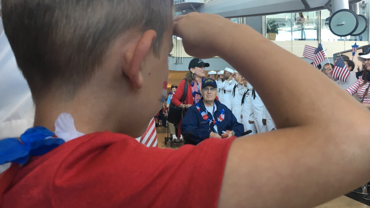 honor flight kid rina pic