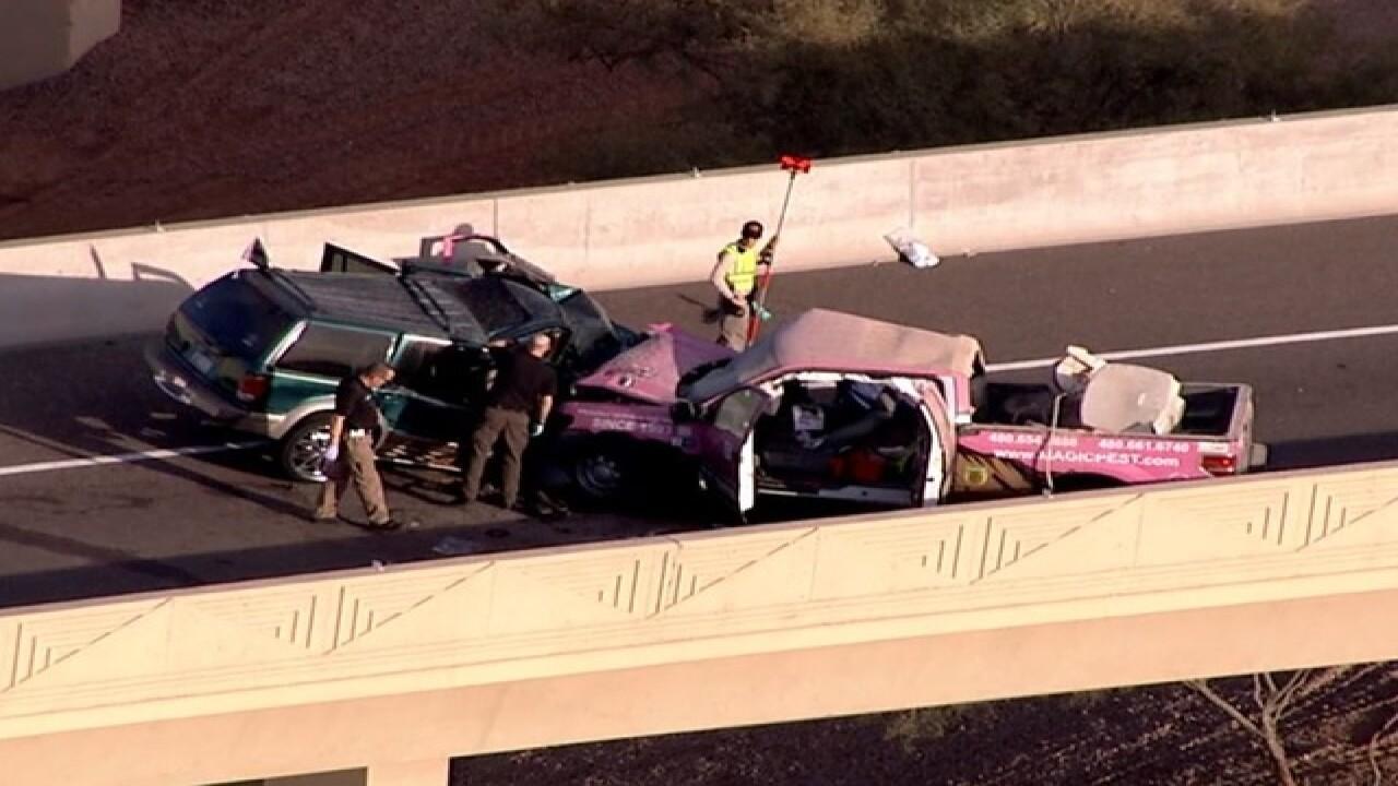Authorities investigating crash at I-10/Pecos Rd