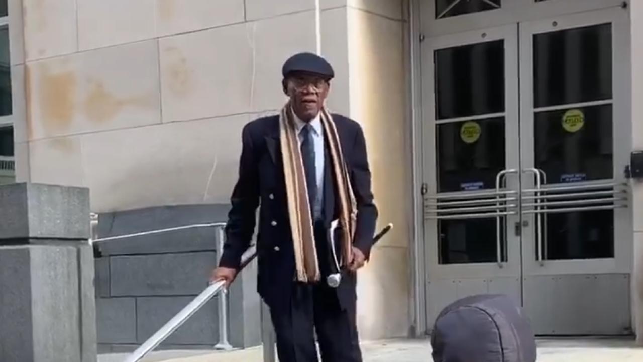 Curtis Joash after sentencing in U.S. District Court in Cincinnati