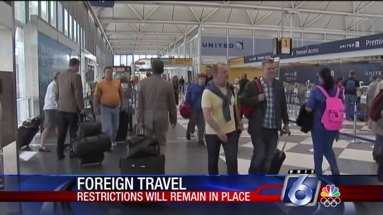 Restrictions still loom for some international travel