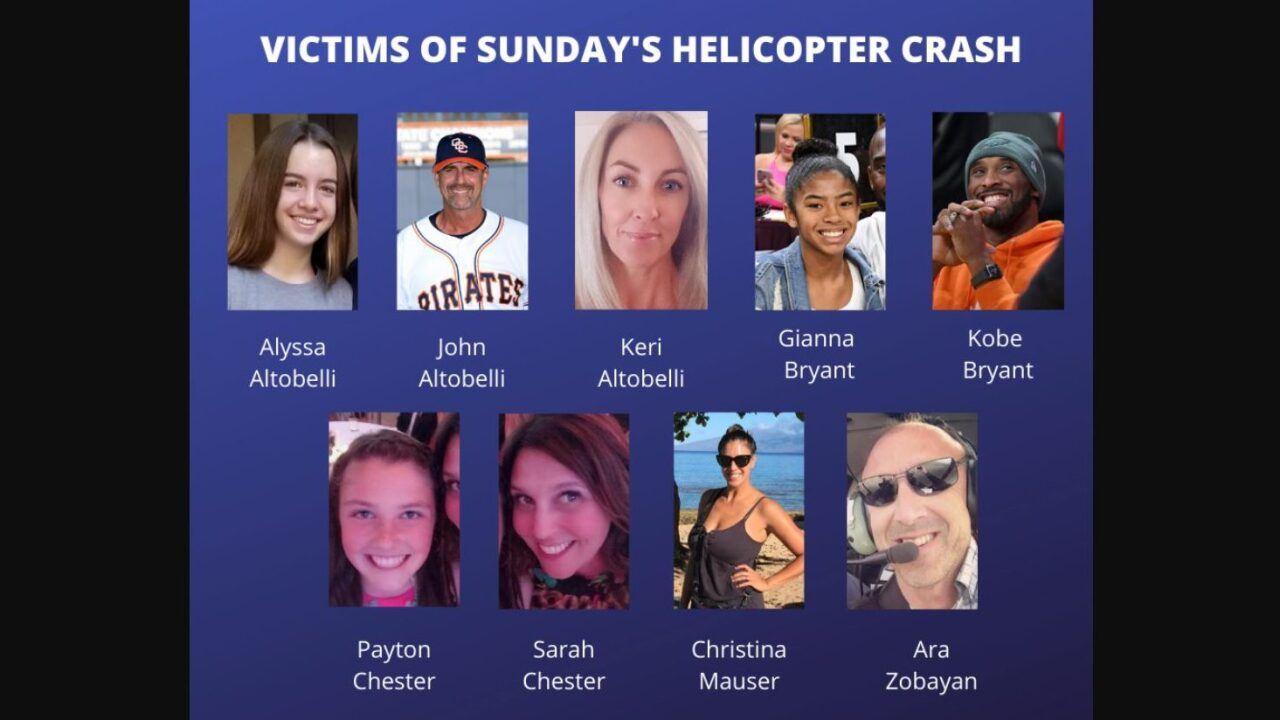 All 9 victims identified in southern California helicopter crash