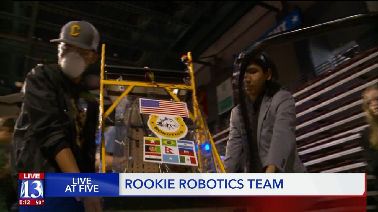 Cottonwood High's all-refugee team competes in Utah's first regional robotics competition