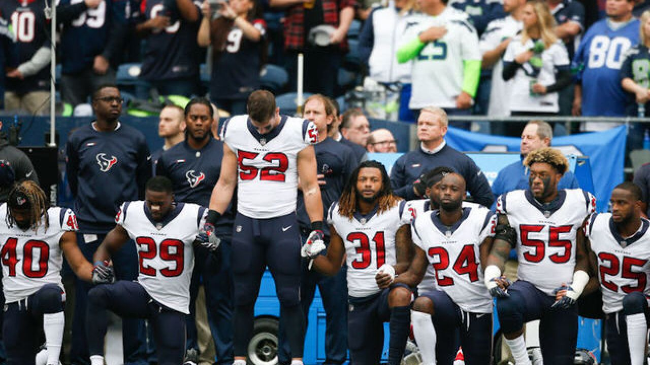 In protest of team's owner, majority of Houston Texan players kneel during anthem