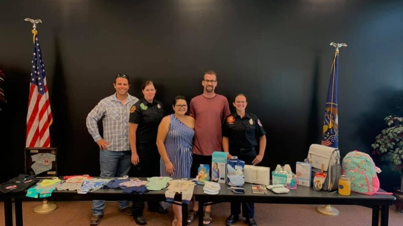 California boy, born prematurely in Utah, gets honorary firefighter gifts from Weber Fire District
