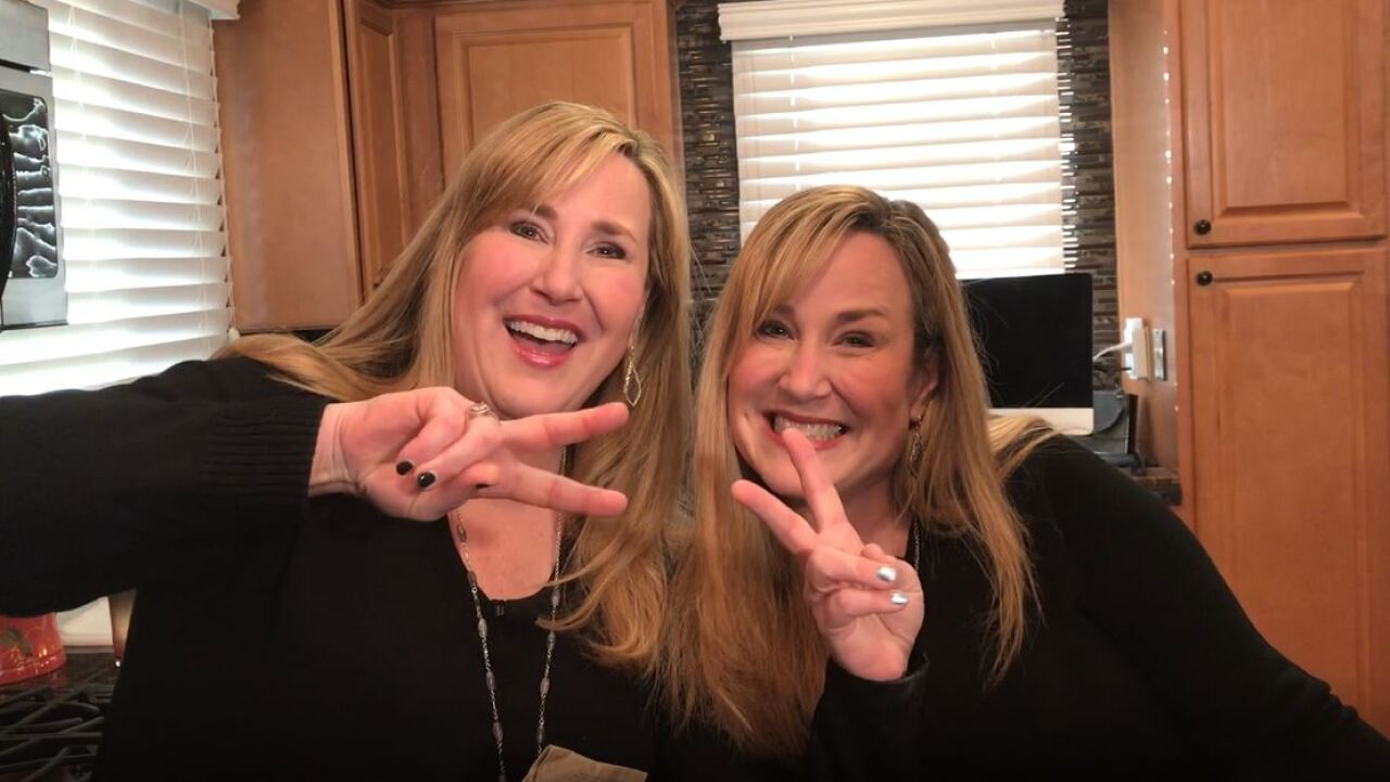 Twin sisters get ready to try out new beauty products