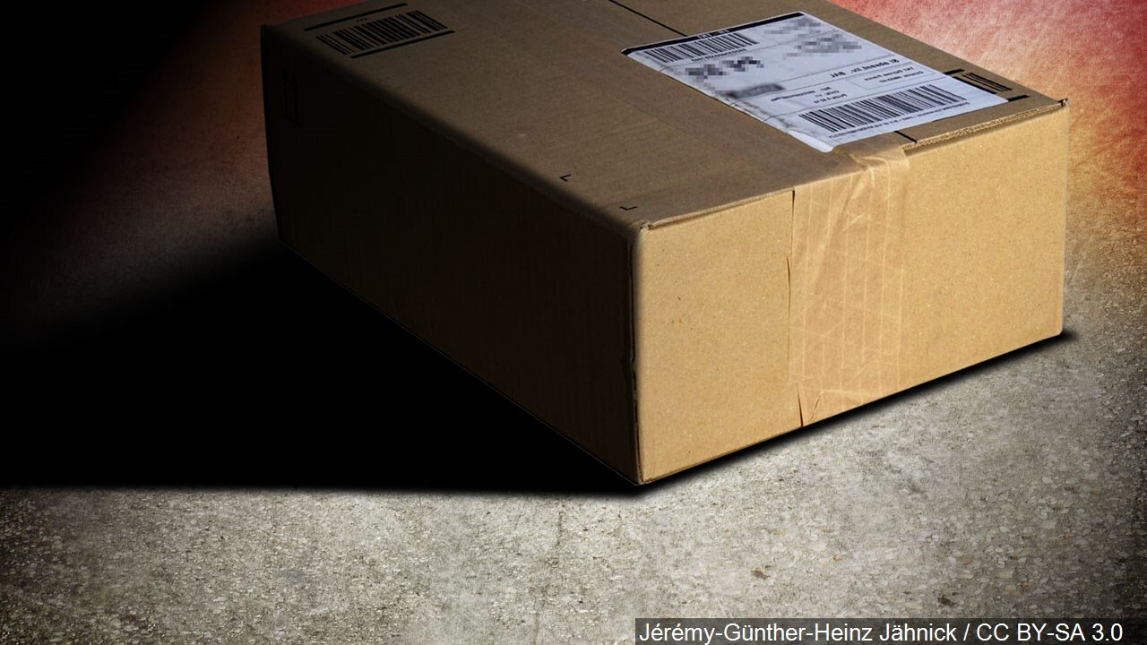 Beware of a free package delivered to your front door.