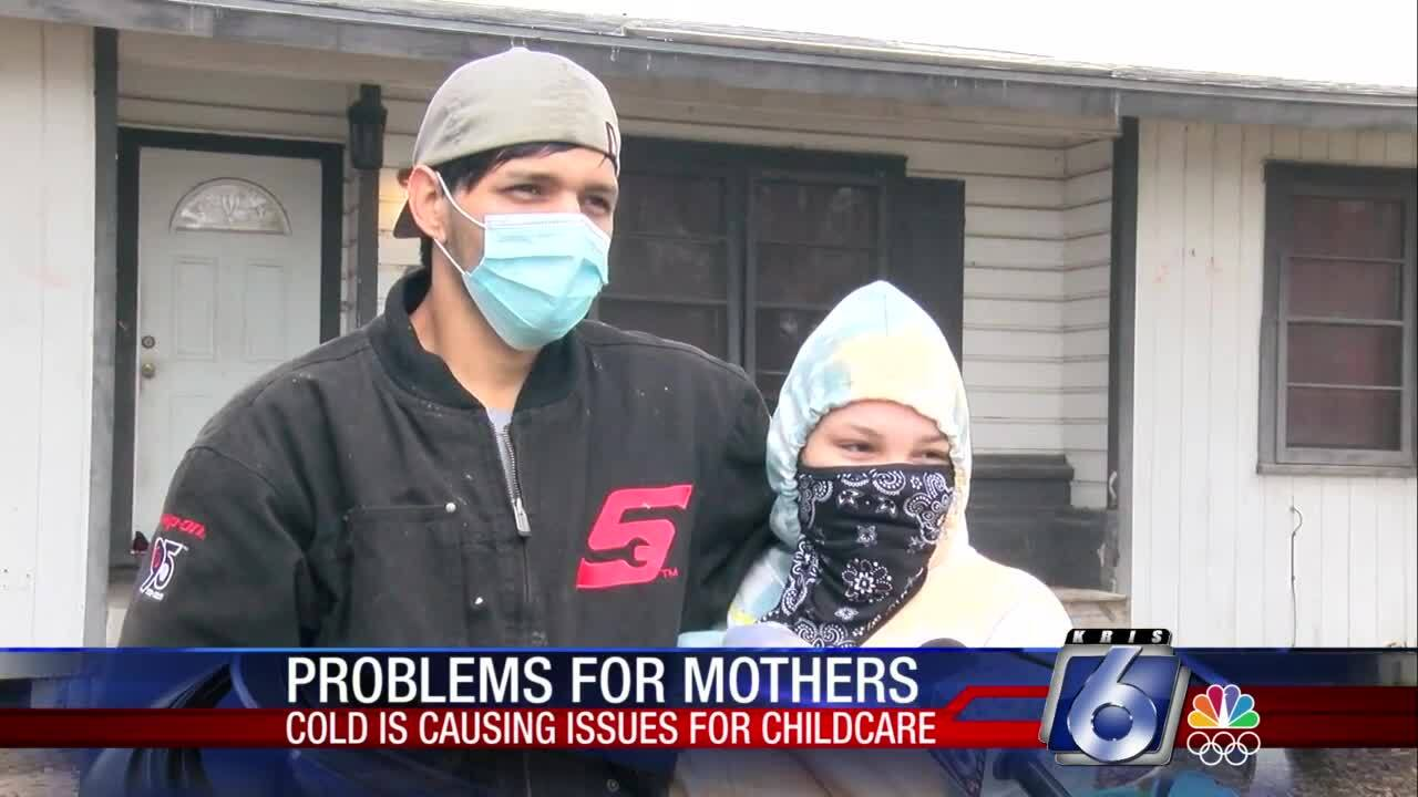 One local family  faced problems because of the cold weather