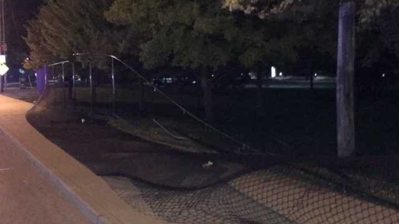 Two arrested after chase, crash into IMS fence