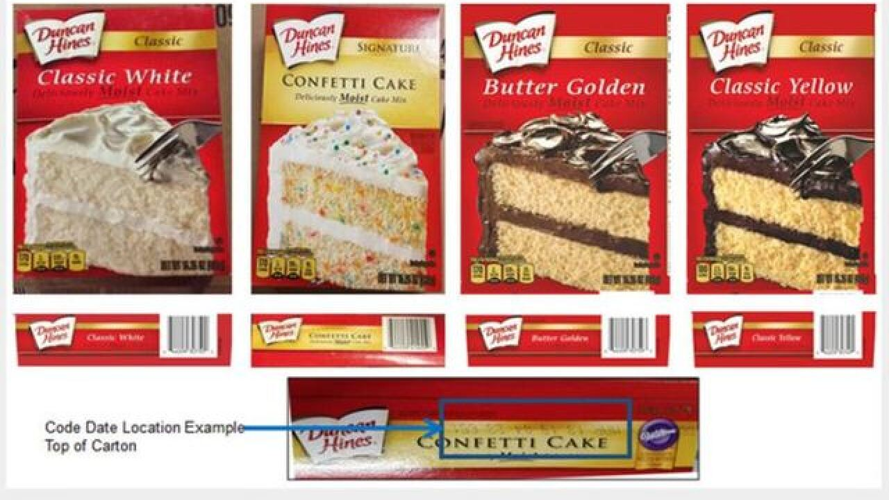 Duncan Hines recalls cake mixes due to potential salmonella contamination