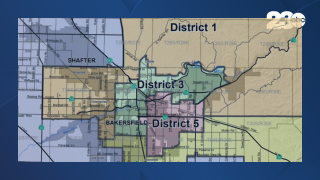 Re-districting Map, Kern County, July 16, 2021