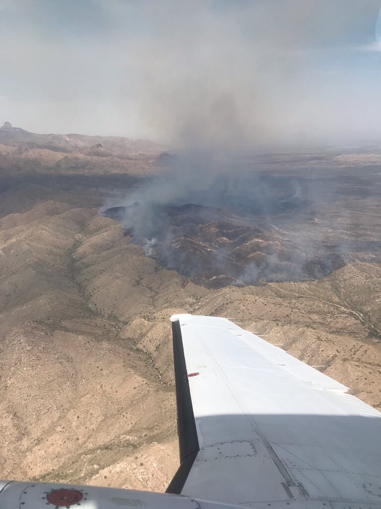 The Encinos Fire has burned about 7,500 acres as of Friday, Oct. 9, according to the Arizona Department of Forestry and Fire Management.
