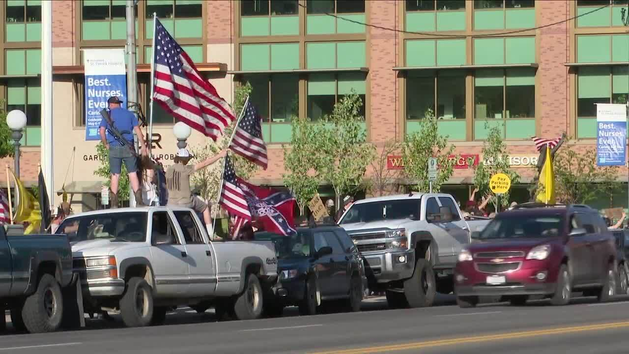 Protestors, counter protesters rally in Missoula after George Floyd death