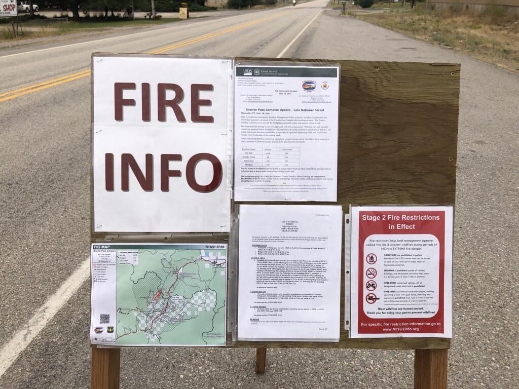 Granite Pass Fire Info