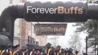 Spring in Colorado: Snowy graduation at CU Boulder