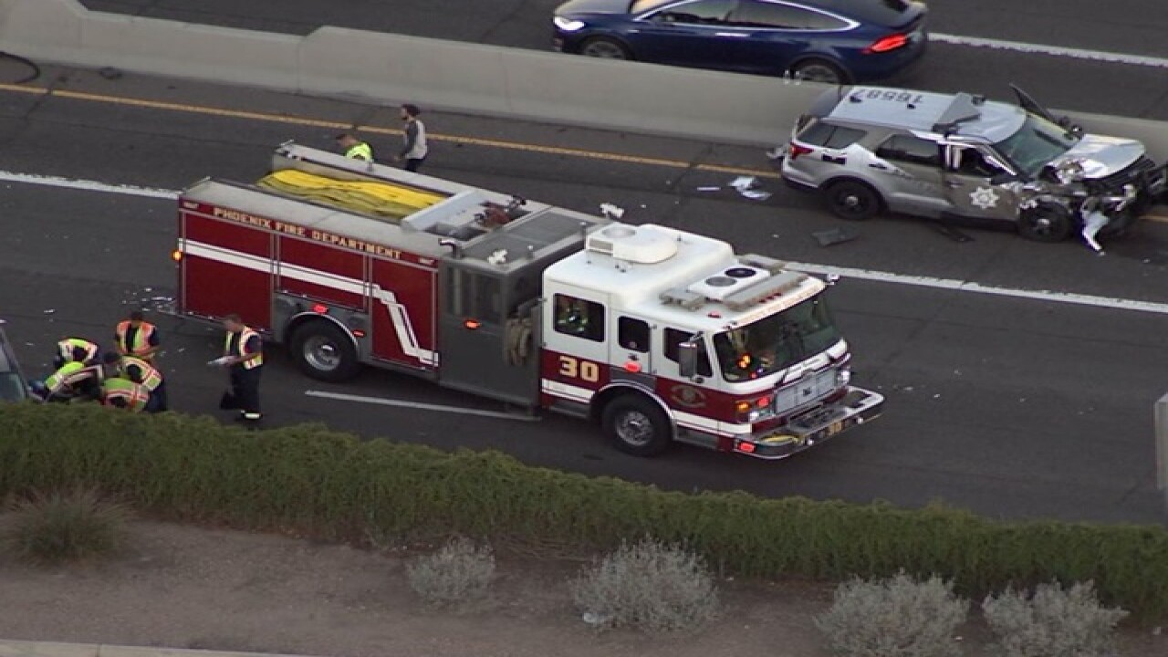 NOW: SB I-17 closed at Bethany Home for crash