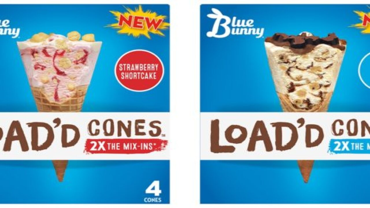 New Blue Bunny Ice Cream Cones Are Loaded With Cookie Dough, Brownies And Other Treats
