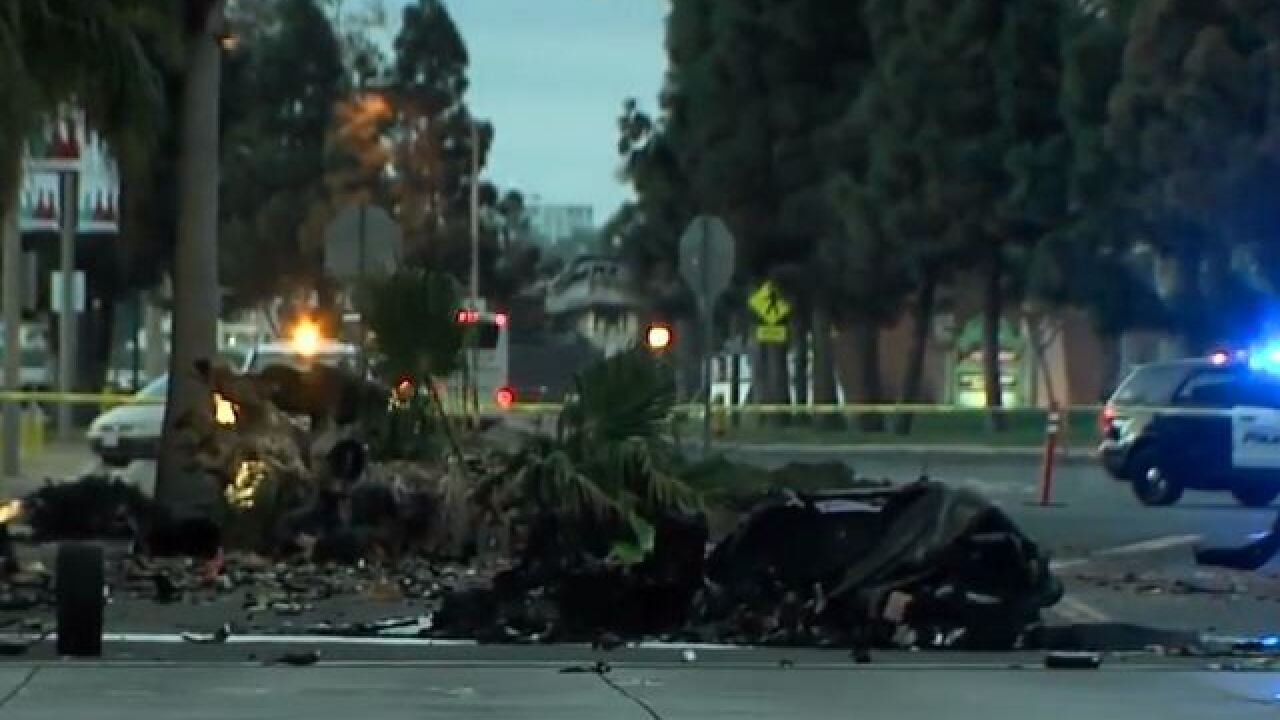 woman ejected from fiery lamborghini crash in downtown san diego dies