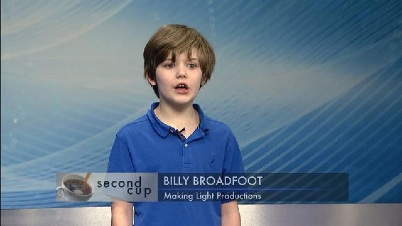 """SECOND CUP: 10-year-old Billy Broadfoot sings a song from """"Godspell"""""""