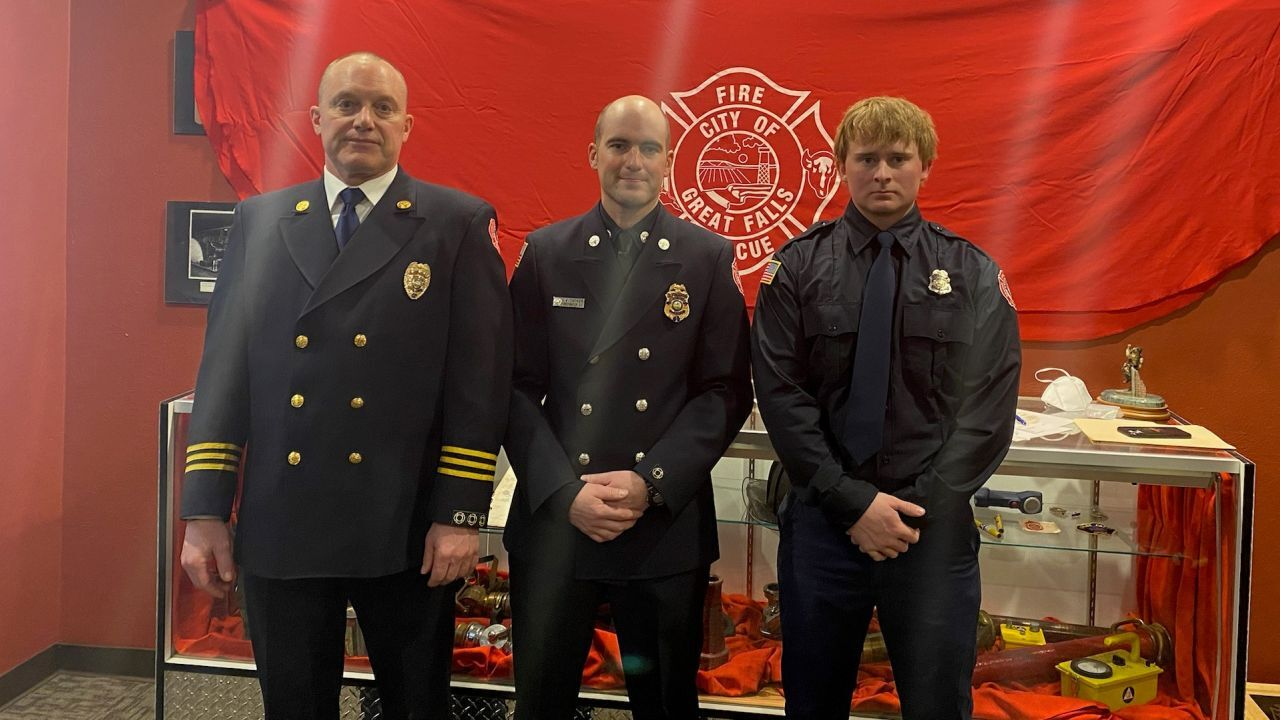 Great Falls Fire Rescue celebrates three promotions