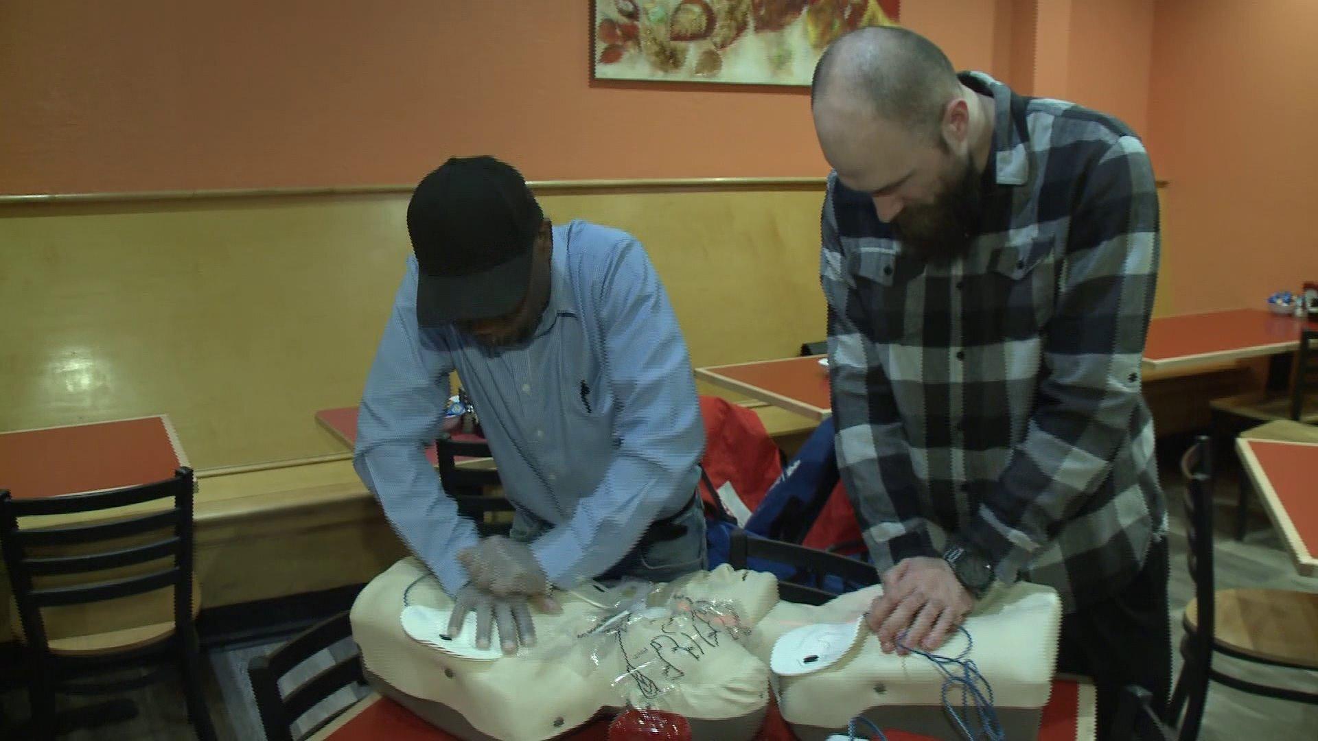 Photos: Training to save lives: Chesapeake restaurant employees take action after child's chokingincident