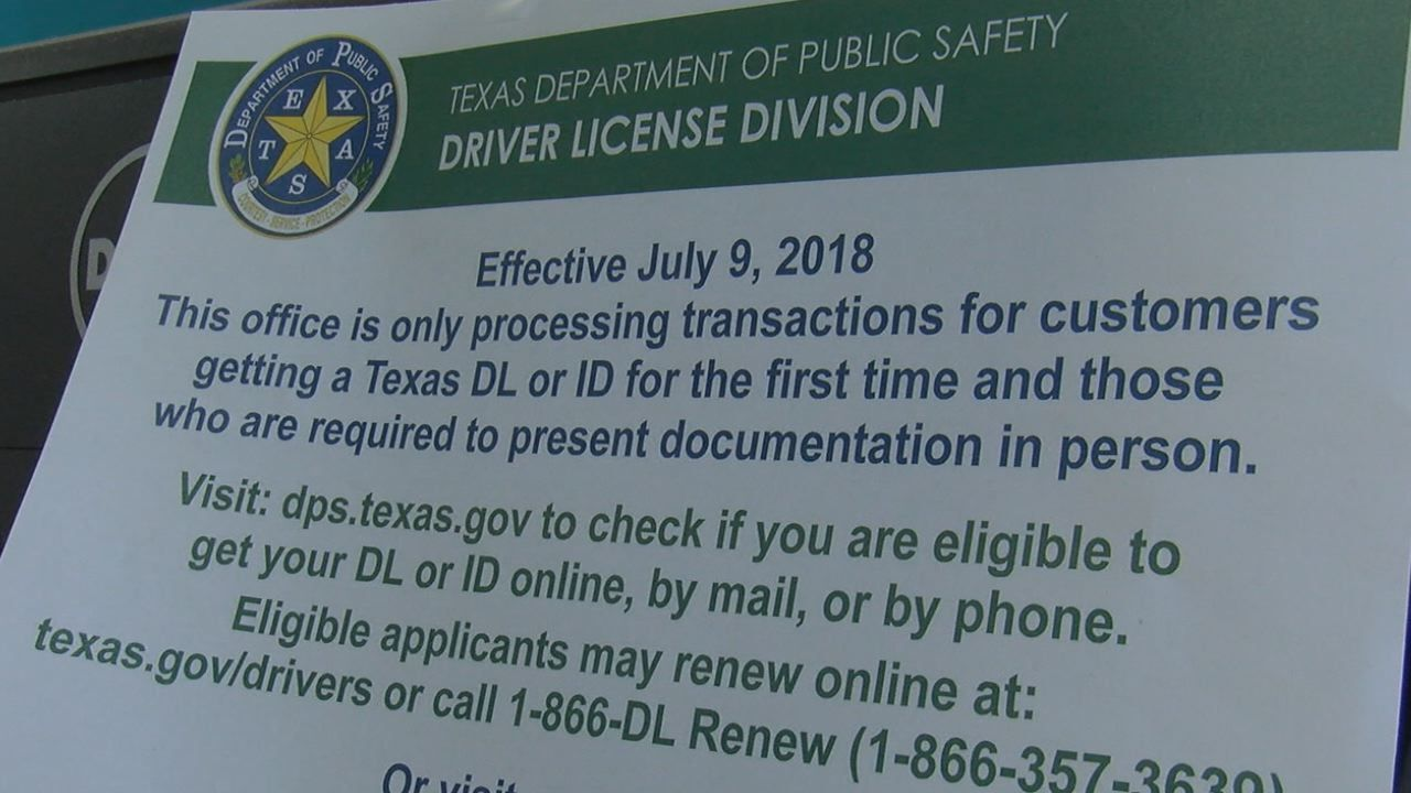 Change in services offered at Temple Driver License Office