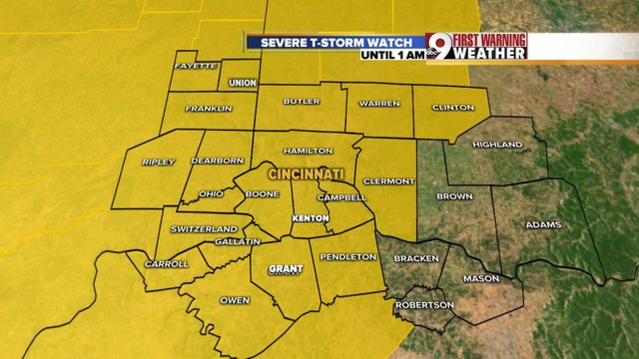 T-Storm Watch issued for parts of SE Indiana