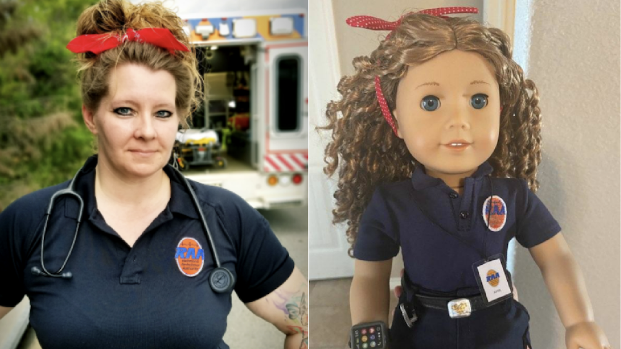 This EMT returned to work after contracting COVID-19. Now, American Girl is honoring her with a doll