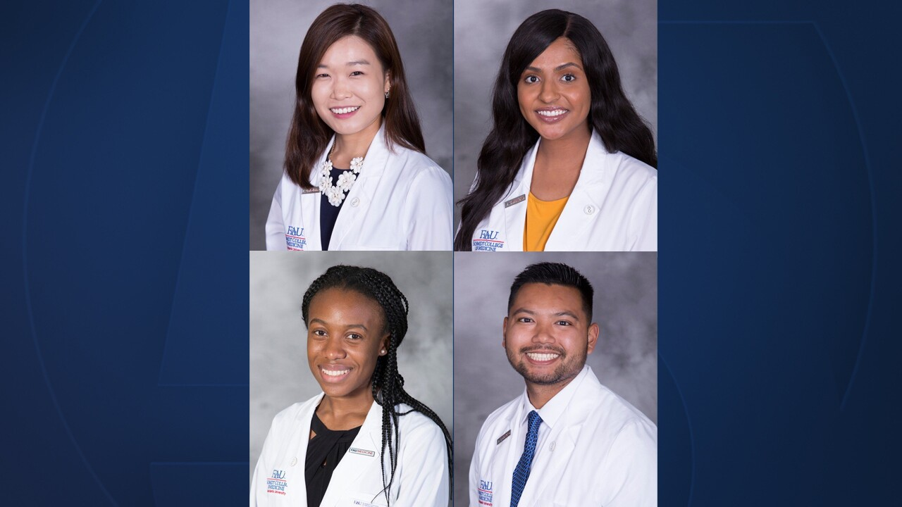 Several medical students from Florida Atlantic University are about to take their next important step to advance their career.