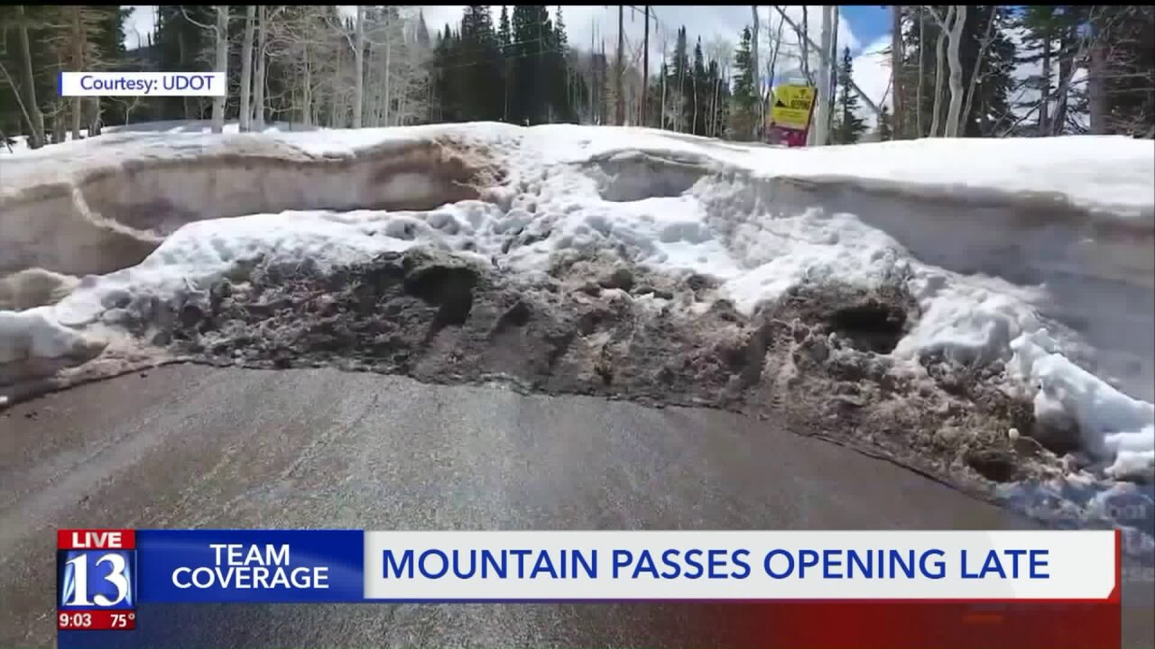 Snow keeping Utah scenic routes closed