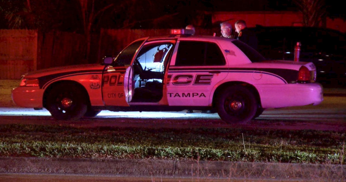 Tampa Police cruiser broken into and set on fire, police say