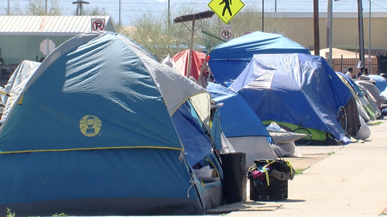 Homeless tents in Phoenix