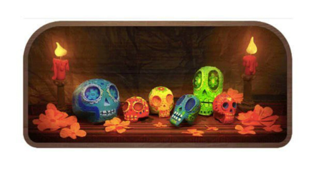 Google marks Day of the Dead with skull doodle