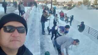 Browning students help dig out senior citizens from heavy snow