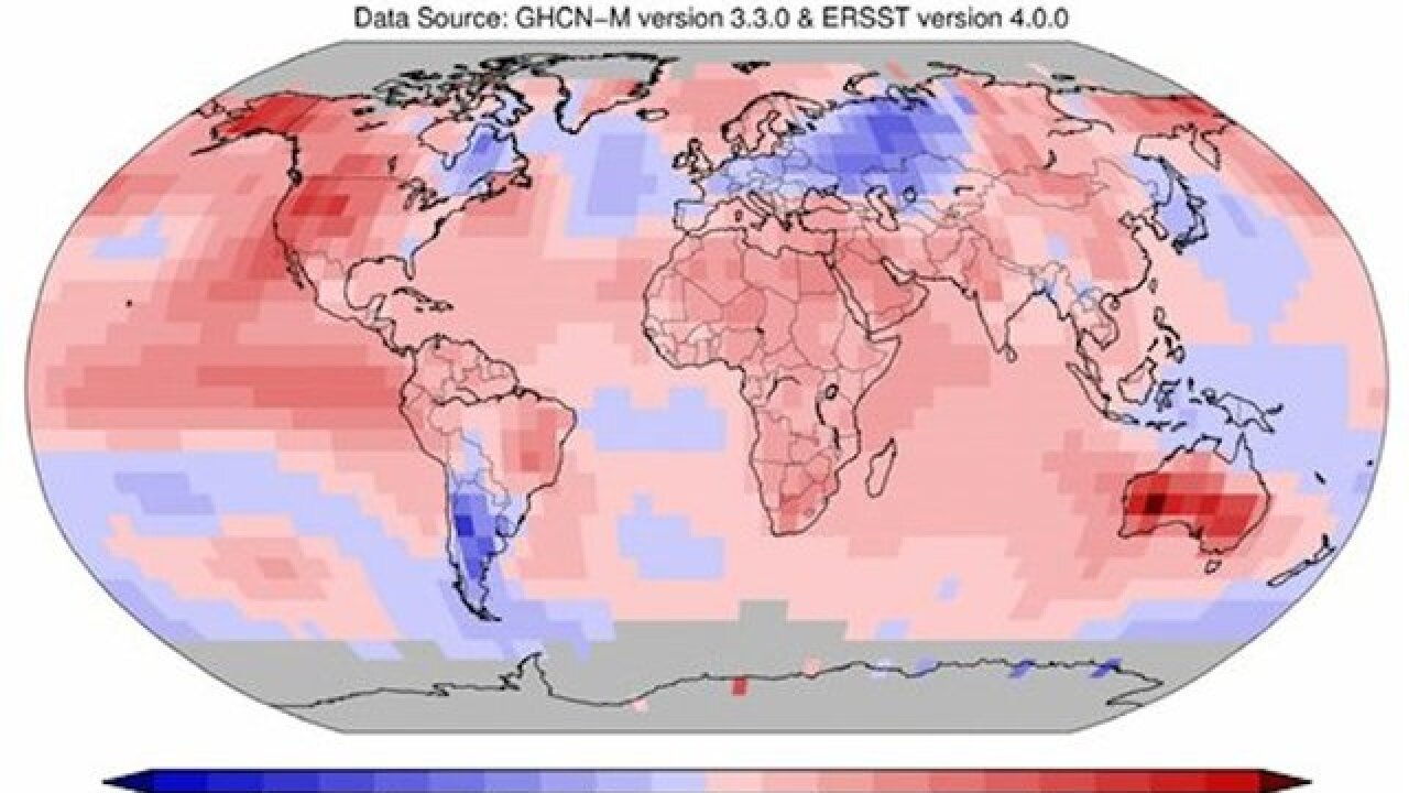 Arctic posts record warmth over land