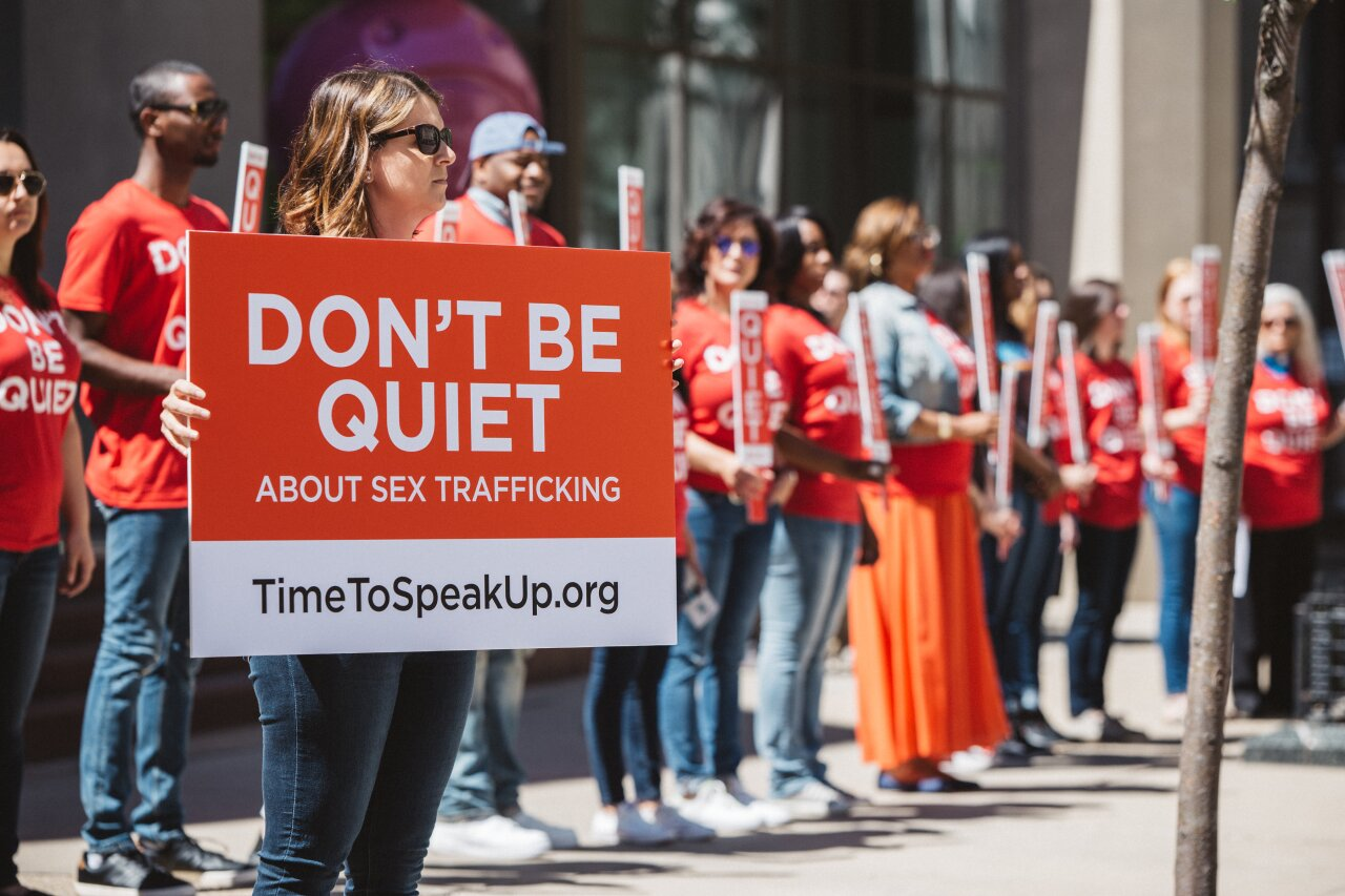 US open Sex Trafficking protest