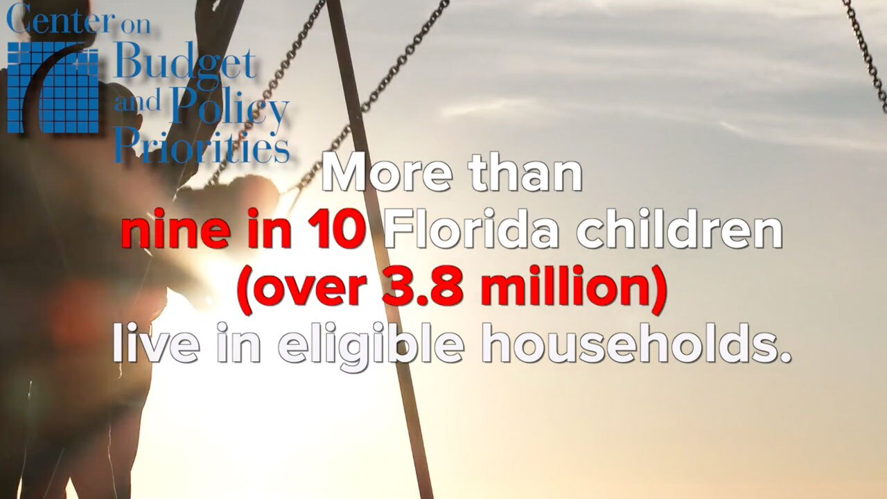 Florida families eligible for child tax credits